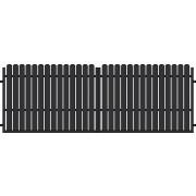 Brama dwuskrzydłowa BERGAMO II 400x145
