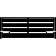 Brama dwuskrzydłowa BOLZANO 400x152