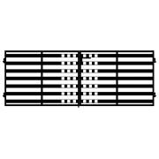 Brama dwuskrzydłowa MILANIO II 400x145