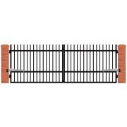 Brama dwuskrzydłowa ROMA 397x140
