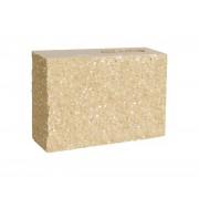 Pustak dwustronnie łupany narożny 290x90x190 piaskowy jasne kruszywo